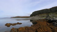 Cliffs of the Doon on the west coast of the Isle of Arran Scotland Stock Footage