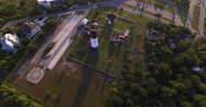 Aerial View of Tybee Island Light Station Lighthouse Stock Footage