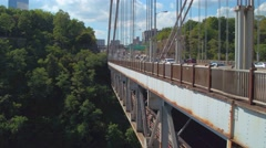 View of Fort Lee park from the George Washington Bridge Stock Footage