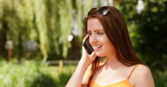 4k,  businesswoman talking angrily on the phone. Stock Footage
