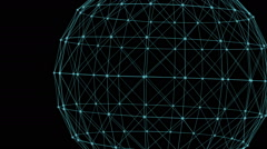 Connection structure , 3d animation abstract background Stock Footage