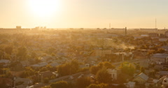 Sunset over the city of Karaganda. Kazakhstan. Time Lapse Stock Footage