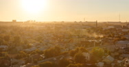 Sunset over the city of Karaganda. Kazakhstan. Time Lapse Stock Footage