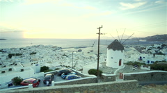 Hectic sunset over the island of Mykonos Stock Footage
