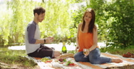 4k, Young man proposes marriage to his beautiful girl. Stock Footage