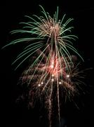 Colourful fireworks display Stock Photos