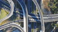 Time lapse - Aerial view of Highway interchange Stock Footage