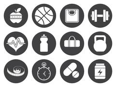 Fitness icons Stock Illustration