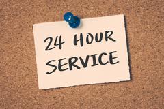 24 hour service Stock Illustration