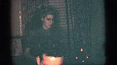 1956: women hiding and drinking in a musical party NEW YORK CITY Stock Footage