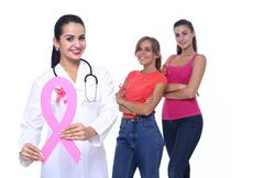 Breast cancer awareness health concept. Stock Photos