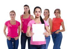 Breast cancer awareness health concept. Stock Photos