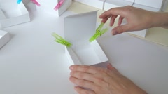 Gift box assembly Stock Footage