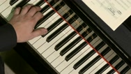 Ungraded: Pianist Playing / Piano Player / Orchestra Musician Stock Footage