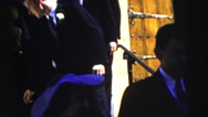 1962: a married couple is seen walking NEW YORK CITY Stock Footage