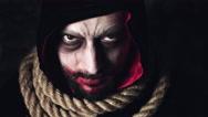4k Halloween Shot of a Creepy Dead Man Looking Evil Stock Footage