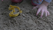 Boy plays in the sand Stock Footage