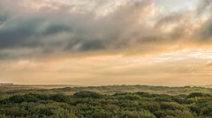 Summer sunrise from the heights above the forest. Stavropol. Russia Stock Footage