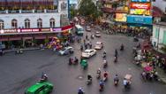 Car traffic in Hanoi, Vietnam. Time-lapse Stock Footage