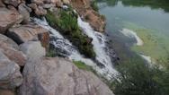 Showplace of Dnepr city, Ukraine - artificial waterfall. Stock Footage