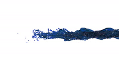 Oil. blue powerful whirling liquid stream Stock Footage