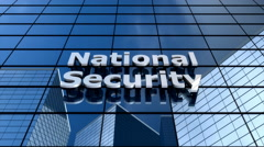 National security building, cloud time lapse Stock Footage