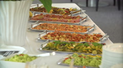 Delicious food at the buffet Stock Footage