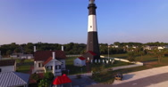 Tybee Island Light Station Aerial Stock Footage