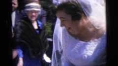 "1962: ""couple celebrates their wedding: the happiest day of their lives""  Stock Footage"