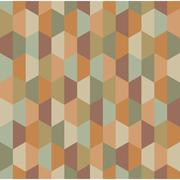 Vector modern seamless colorful geometry half hex pattern Stock Illustration
