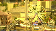 Beautiful and glowing toy town Stock Footage