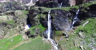 Waterfalls in Valmalenco - Alpe Fora Stock Footage