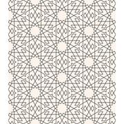 Geometric arabesque, Seamless pattern line art in Moroccan style Stock Illustration