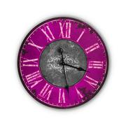 Isolated Vintage Old Pink Clock Stock Photos