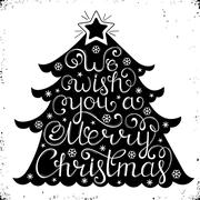 Christmas congratulation on white background Stock Illustration