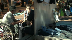 Flea market in Saint-Petersburg Stock Footage