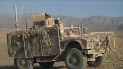 Soldiers on patrol in Logar Province Afghanistan. Stock Footage