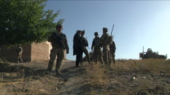 Soldiers on patrol in Logar Province Afghanistan. Stock Footage
