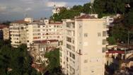 Aerial Rio de Janeiro, Santa Teresa hill with slums in Brazil Stock Footage