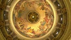 Church fresco, cam roll Stock Footage