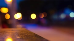 Blurred light in the night city time laps Stock Footage