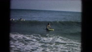 1967: a surfing scene NEVADA Stock Footage