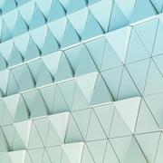 3D illustration abstract architectural pattern Stock Illustration
