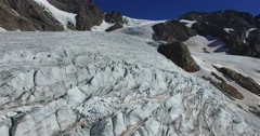 Glacier - Hight mountain - Aerial view 4k Stock Footage