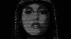 Cleopatra Face Animation Stock Footage
