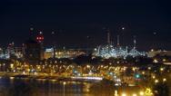 Gibraltar-San Roque Refinery, night time lapse Stock Footage