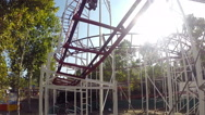 Roller Coaster for Fans of Extreme Entertainment Stock Footage