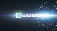 Dark Dynamic Light Particles Impact Business Logo Reveal Animation Video Intro Stock After Effects