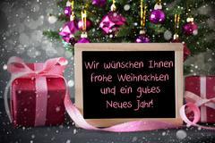 Tree With Gifts, Snowflakes, Bokeh, Weihnachten Jahr Means Christmas Year Kuvituskuvat