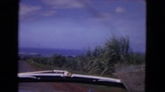 1967: a beautiful mountain ridgeline as seen through the window  Stock Footage